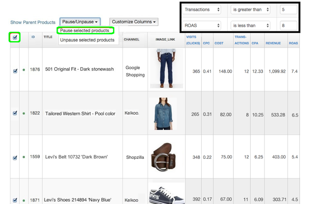 selling-on-connextiy-analytics-filter