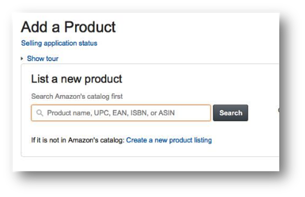Add a New Produc Amazon ASIN