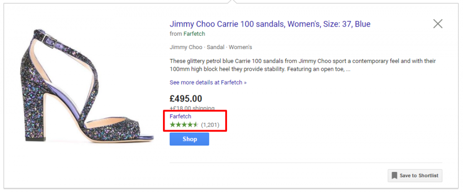 Add Seller Ratings on Google Shopping