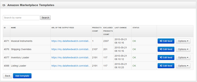 Amazon Marketpalce Ads Template in DataFeedWatch