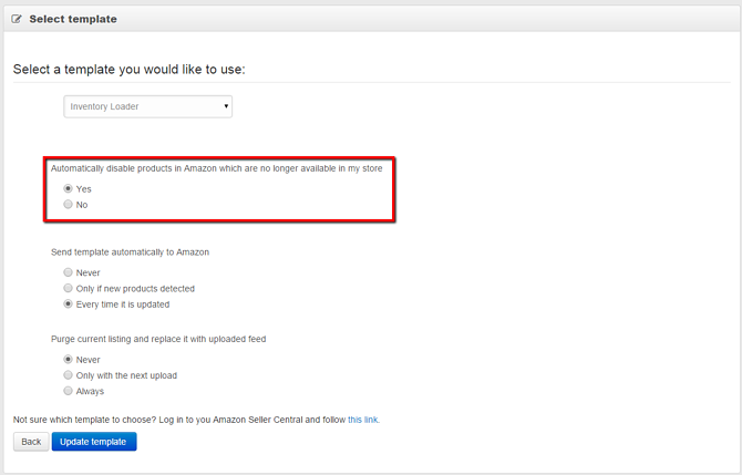 Disable Products in Amazon Marketplace Ads