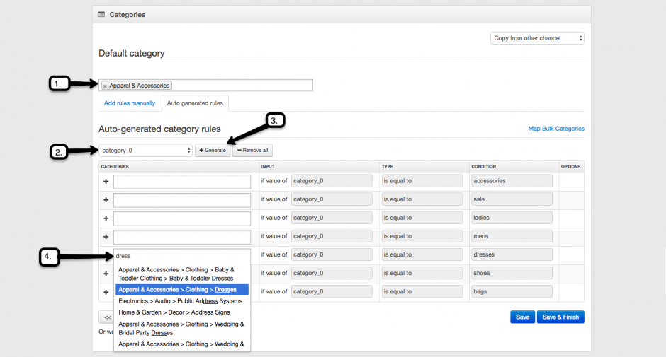 Assign Google Product Categories