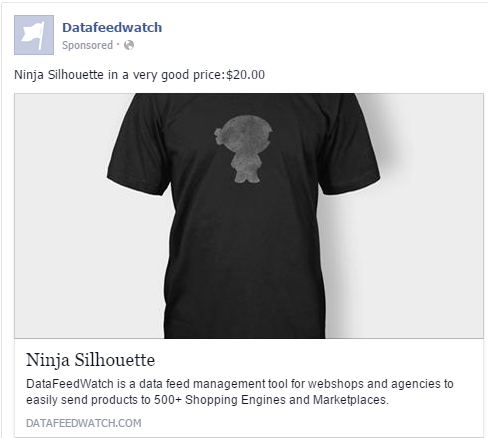 Black Shirt Facebook Dynamic Product Ad
