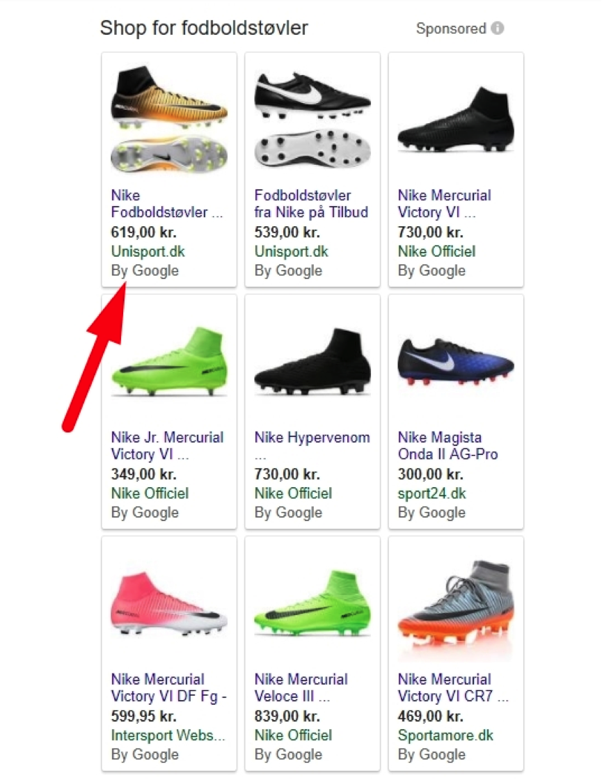 By Google Product Listing Ads