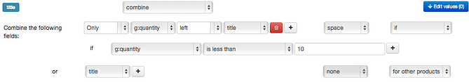 Combine Title with 'Only 2 Left' in DataFeedWatch