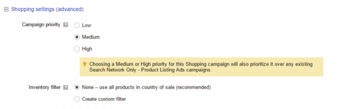 Create a Google AdWords Campaign for Product Listing Ads