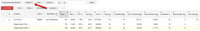 Create an AdWords Campaign for Top vs Other