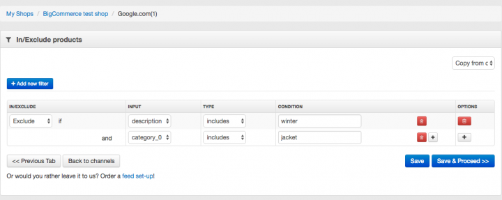 Exclude Seasonal Products from your Data Feed
