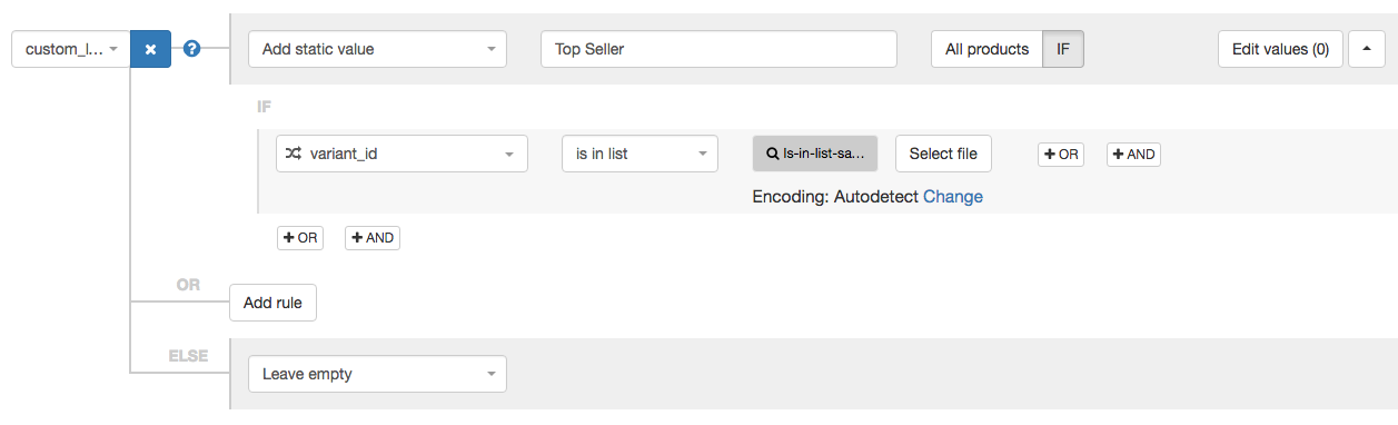 Custom Label for Top Seller in DataFeedWatch 3.0