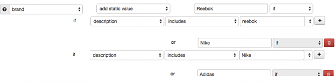 Brand Mapped from Description in DataFeedWatch