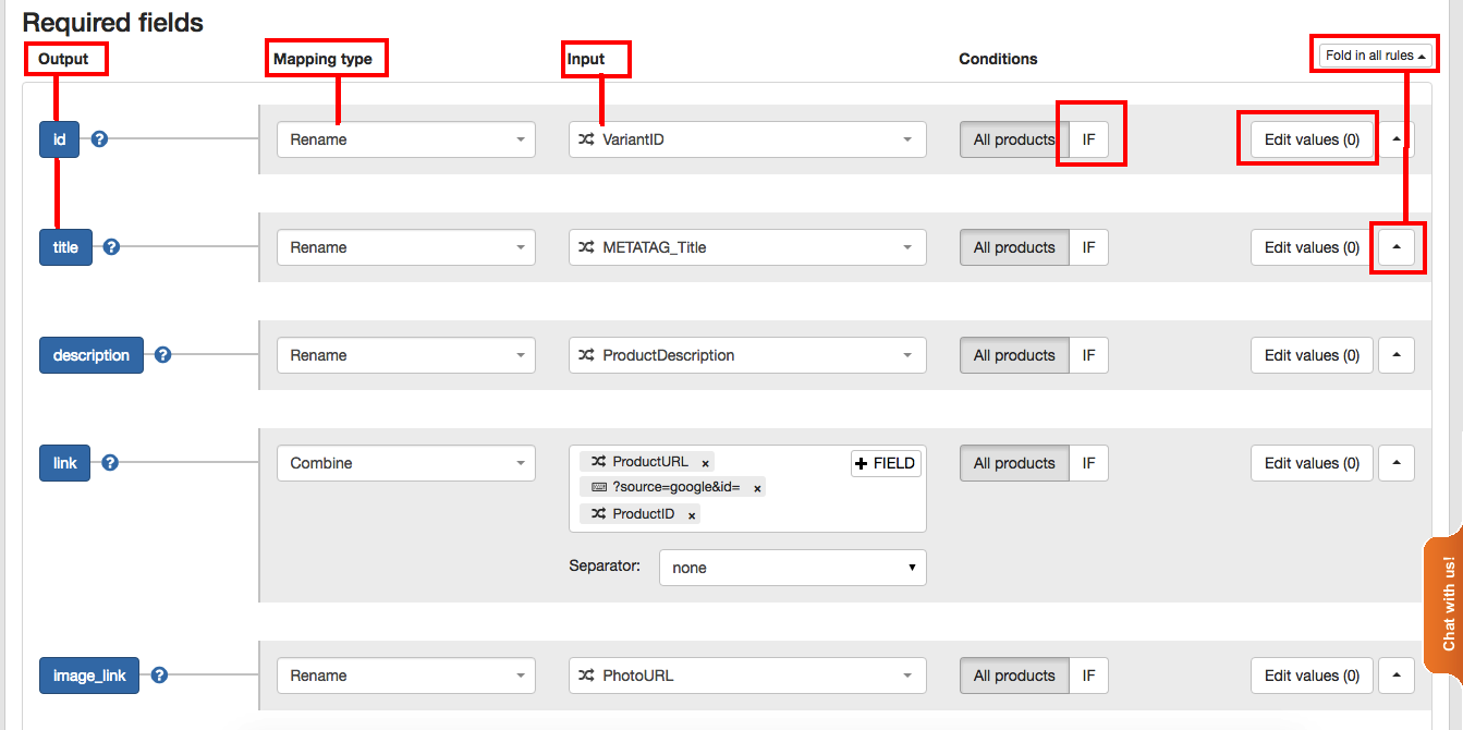 New Map Fields Rules in DataFeedWatch