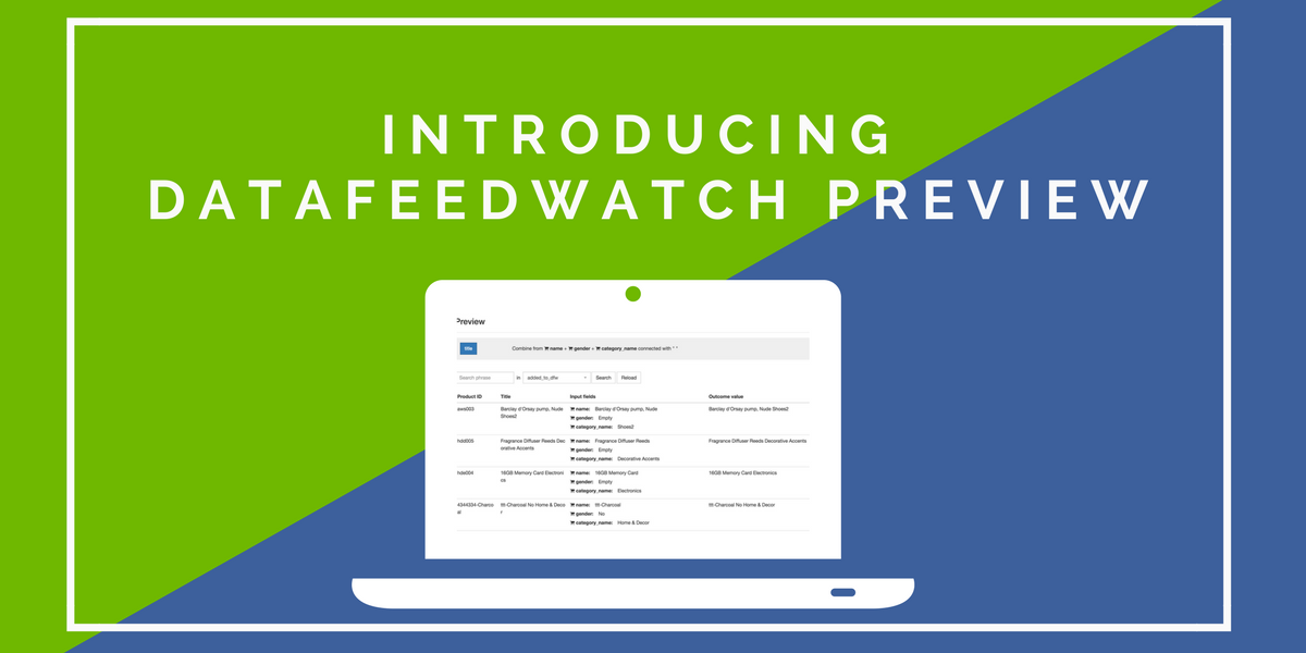 DataFeedWatch Preview