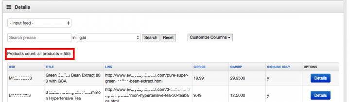 DataFeedWatch Product Count to Show Products