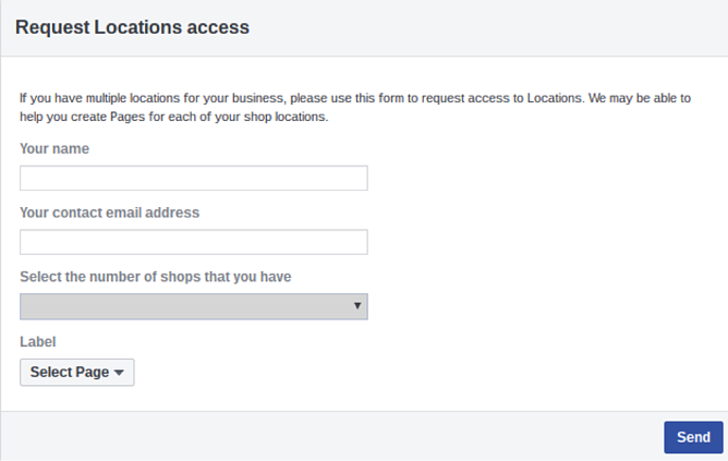 Facebook Dynamic Ads for Retail Request Location Access