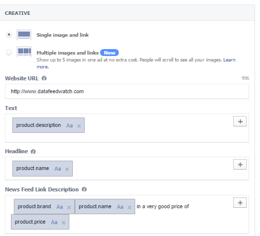 Facebook Dynamic Product Ads Setting