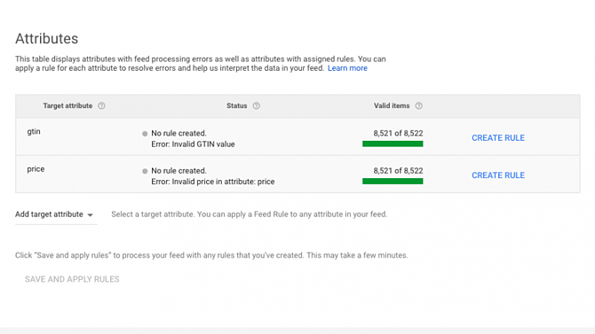 Google Merchant Center Update Feed Rules in DataFeedWatch