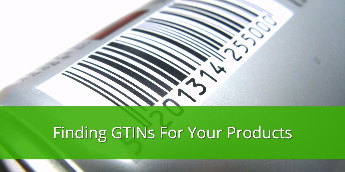 Finding GTINs for your Products