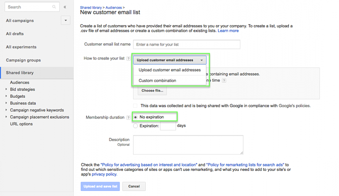 Google Customer Match on Google Shopping with Upload Lists