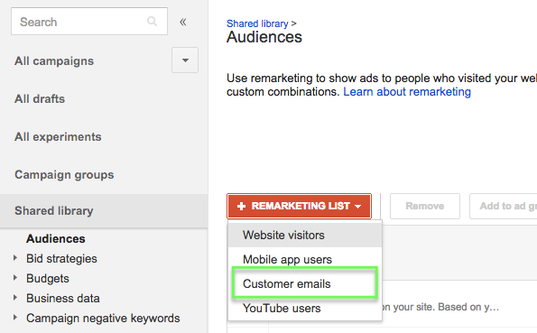 Google Customer Match for Shopping Campaigns with Remarketing