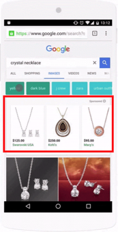 Google Shopping Ads on Image Search