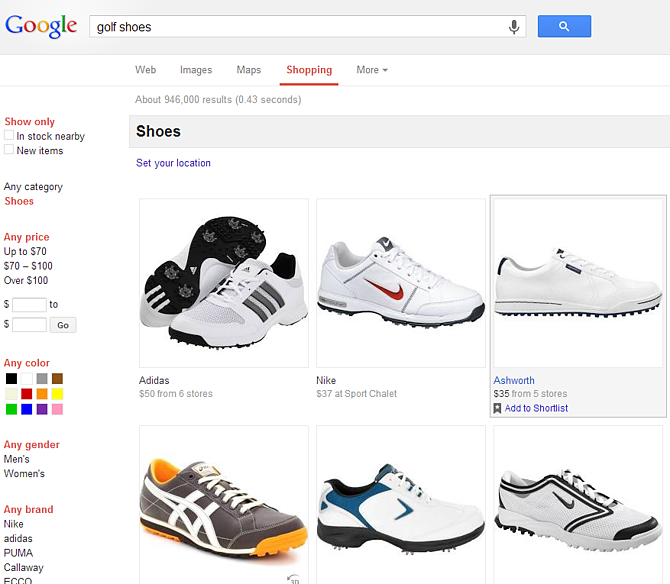Best Comparison Shopping Engine Google Shopping Shoes