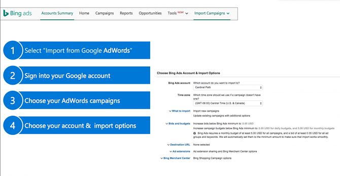 Import Google Shopping Campaigns in to Bing Shopping