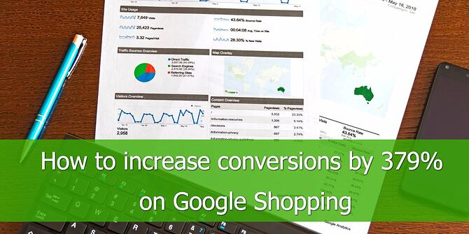 Increase Conversions 379% on Google Shopping