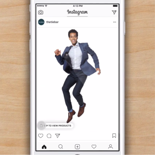 Instagram Shopping tap to View Products