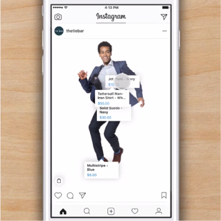 Instagram Shopping View Tags