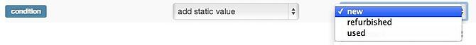 Add Static Value Condition for Magento in DataFeedWatch