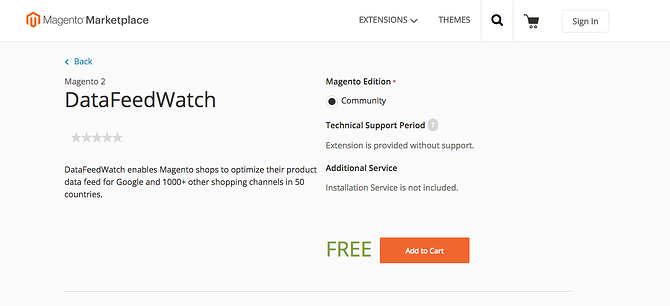 Magento Marketplace with DataFeedWatch