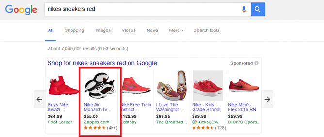 Google Shopping Feed Optimization Nike Shoes