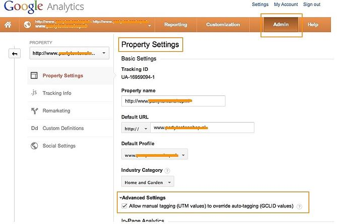 Overwrite Autotagging in Google Analytics