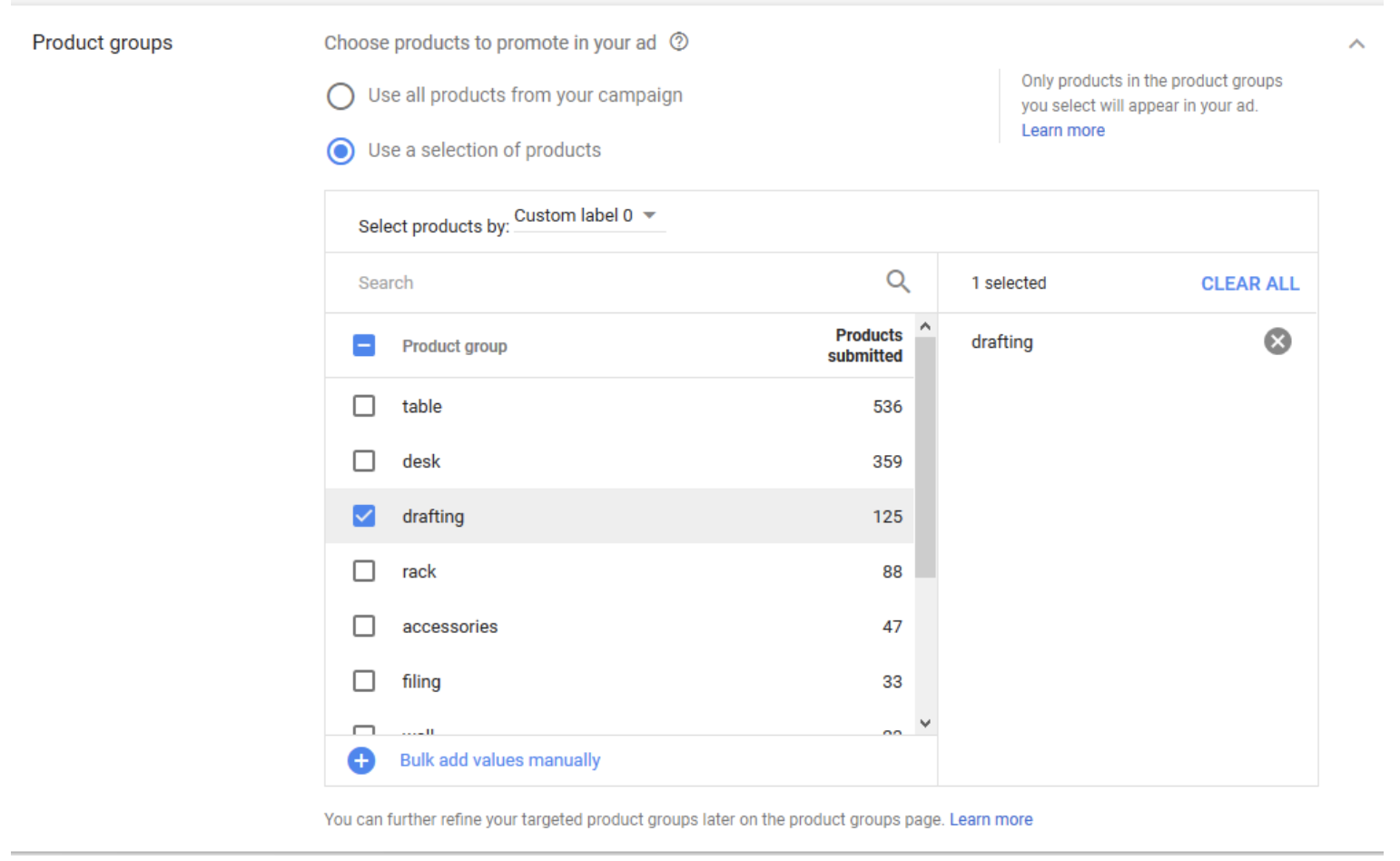 Google Showcase Shopping Ads Add Products