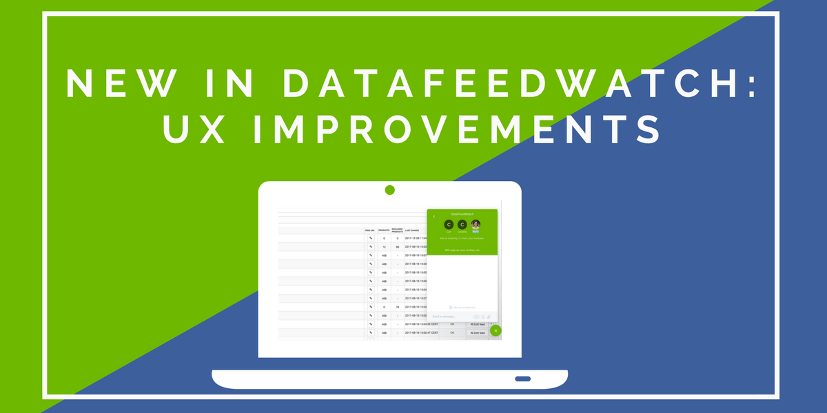 New UX Improvements in DataFeedWatch