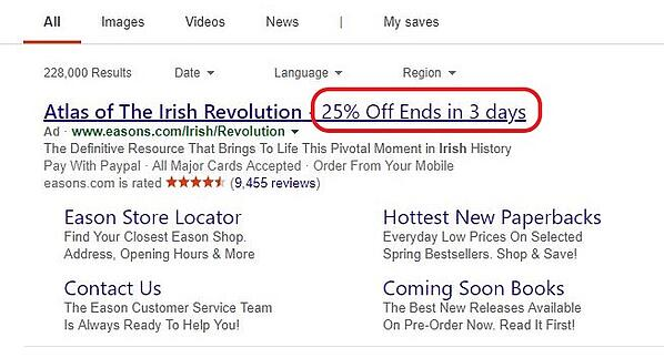 feed_driven_text_ads_promotion_showing_sale_countdown