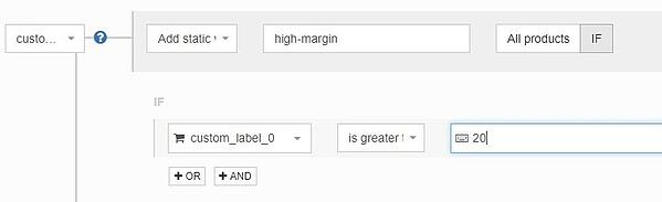 google_shopping_custom_labels_subdivide_by_margin_with_datafeedwatch_rules