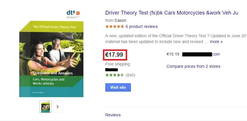 google_shopping_driver_test_theory_price_comparison