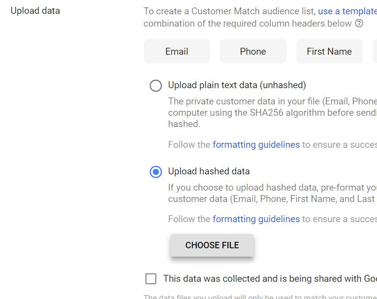 google_shopping_feed_marketing_tips_for_black_friday_2018_google_customer_match_upload_list