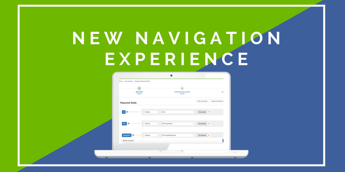 New Navigation Experience in DataFeedWatch