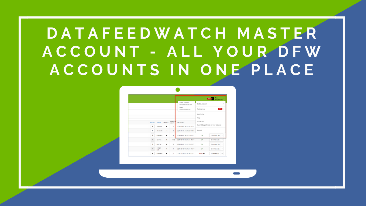 DataFeedWatch Master Account - All your DFW accounts in one place