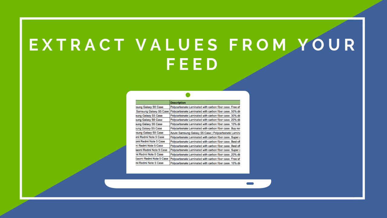New in DataFeedWatch: Extract Values