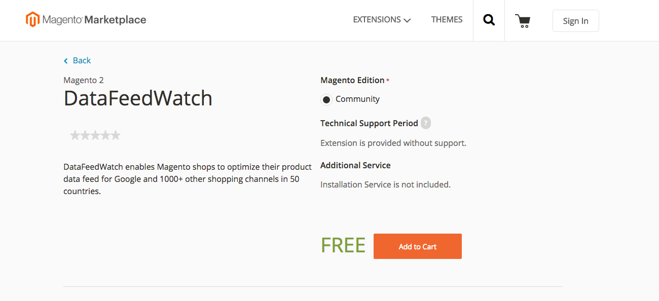 DataFeedWatch Extension Available for Magento 2